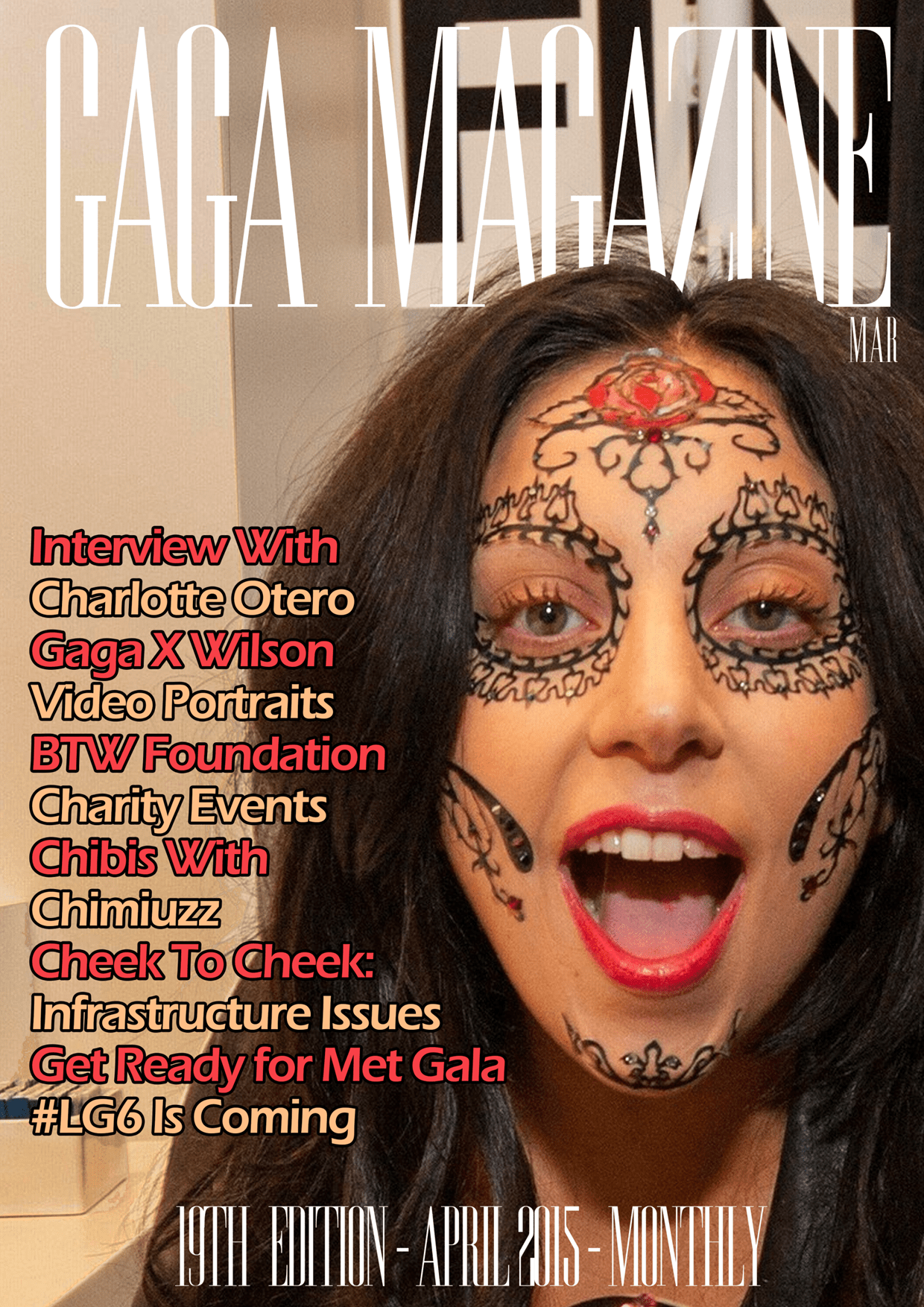 Capa Gaga Magazine - 19th Edition - April 2015